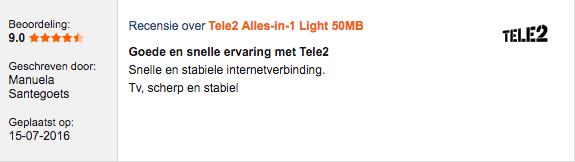 Tele2 Glasvezel ervaringen